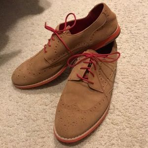 Johnston and Murphy suede oxfords